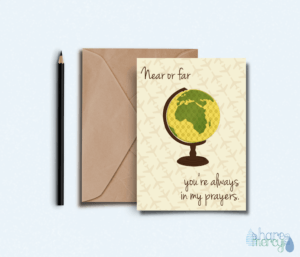 In my prayers Muslim greeting card